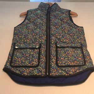 J Crew floral vest